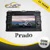 double din audio car system for toyota prado with fm bt tv