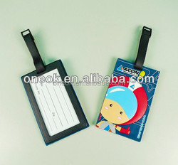 Hot sale 3d prevent luggage missing pvc luggage hang tag