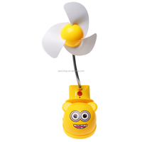 Popular Cartoon Despicable Me Mini Clip-on Rechargeable Fan