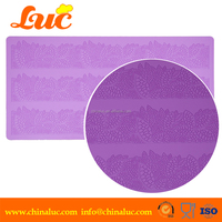 hot selling latest high quality fondant cake mold LSM3209 3d silicone lace mat for cake decorating