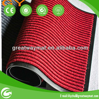 2015 best sales Ribbed PP mat with PVC backing