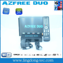 best digital tv satellite IPTV and 3g decorder azfree duo