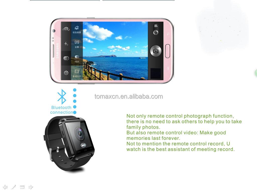 2014 new Hot multi-function U8i smart watch bluetooth phone watch