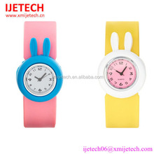 hot sale waterproof slap rabbit silicone kids watch baby toy