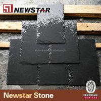 Black natural slate discount roof tile
