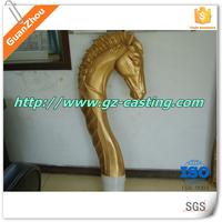 Alibaba trade assurance china foundry OEM custom design gray iron aluminum sand casting cast metal horse head