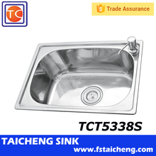 Stainless Steel Single Bowl Kitchen Sink TCT5338S