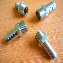 high performance forged brass connector , threaded connection with sleeve for rubber hose connector ,