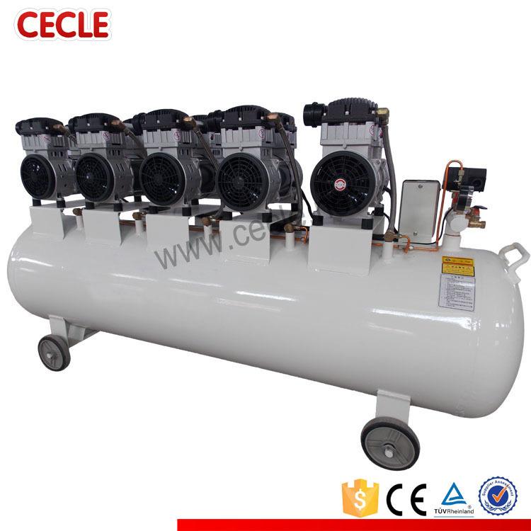 silent 220v oil free 7.5kw air compressor