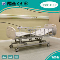 Electrically Operated 3 functions hospital bed with aluminum alloy side rails