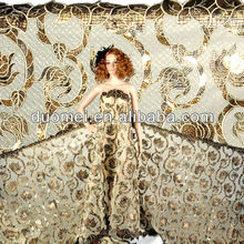 cheap /High quality /guipure lace fabric with sequins p2424