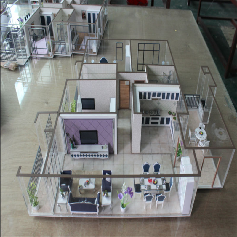 new made in china internal layout model for house decoration