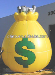 giant inflatable money model for advertising
