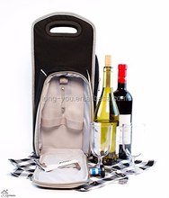 Wine Carrier Tote Bag Insulated Wine Bottle Holder Custom Cooler Bag