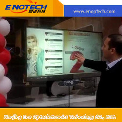 """32""""-120"""" touch Overlay screen with 4 Points advertising, conference, computer screen, shopping mall"""