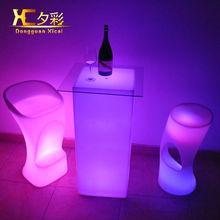 cheap hot sale led bar table RBG illuminated square column table