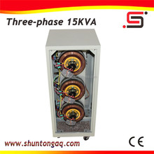 new technology SVC 15kva 3 phase ac servo motors power automatic voltage stabilizer made in china
