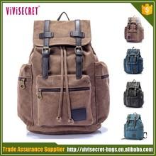 "2015 New stylish backpack vintage canvas school backpack 15"" laptop backpack"