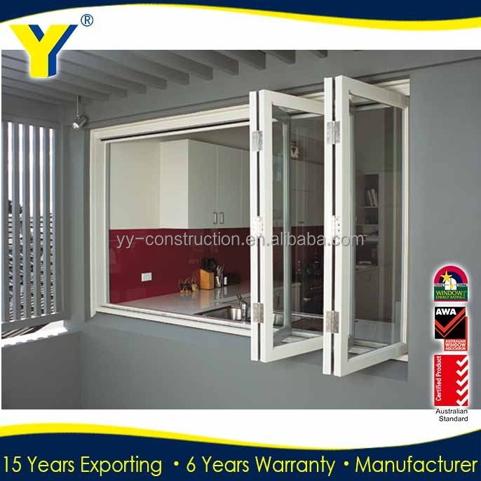 Thermal break aluminum window and door grill with ivory for Thermal windows prices