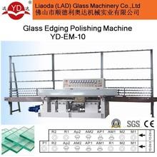 10 MOTORS manual operation glass vertical straight line edging machine
