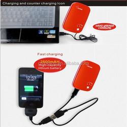 Resuable YK-805 USB Electric Japan hand warmer powerbank warmer