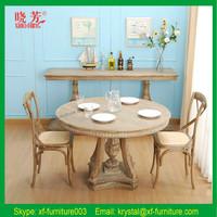 Guangzhou Best Selling Antique Solid Oak Wood dining room furniture
