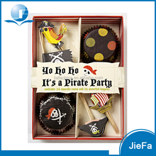 Cupcake Toppers with cupcake Pirate Design Cocktail Party Set
