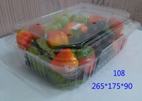 Cherry Tomato blister plastic boxes with hinged lid