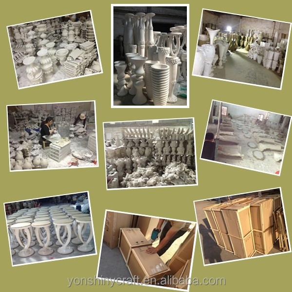 maisond cor grand vase blanc vases en r sine id de produit. Black Bedroom Furniture Sets. Home Design Ideas