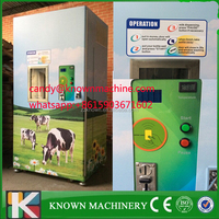 150L Automatic fresh coin bill payment milk dispenser machine/milk vending machine