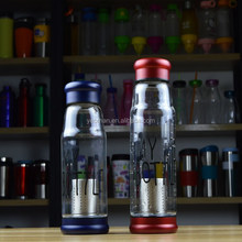 high quality cold or hot water bottle in glass with stainless infuser