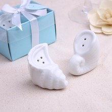 Ceramic Sea Snail Salt and Pepper Shakers Wedding guest gifts