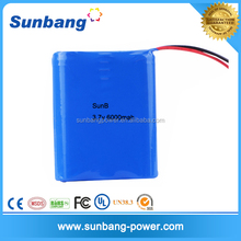 Factory price Most Popular electric 3.7v 6000mah 18650 li-ion battery pack for digital product