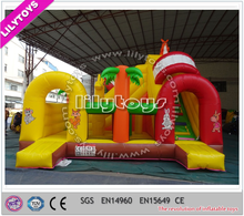 Hot mini combo games/pvc type inflatable combo/jumping castle