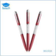 Promotional colored jewelled crystal bling pen