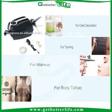 2015 getbetterlife best selling cake airbrush kit/temporary airbrush tattoo kit starter kit/airbrush makeup kit with compressor