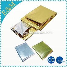 EXR-1 Waterproof foil silver mylar thermall rescue emergency blanket