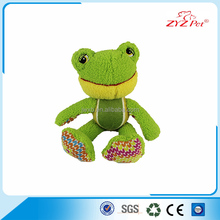big frog plush toy soft squeaky pet toy for dogs with tennis 100% passed test