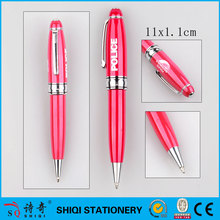 Luxury pink fat gift metal pen with logo