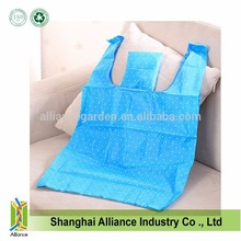 Dot printing nylon T-shirt shape recycled foldable shopping tote bag