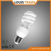 Practical cfl bulb half spiral energy saving lamp 15w T2
