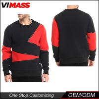 Factory Price men cotton crew neck mix color sweatshirt