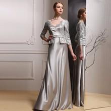 Caliente venta siduo 80127 manga larga vestidos noche elegante