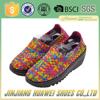 2016 Newest Design Braid Handmade Woven Casual Elastic Shoes