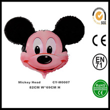 Mickey Mouse Inflatable Helium Foil Balloon Wholesale Mickey Mouse Party Decorations Balloons Mickey Head Shape Balloon