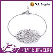 Brazilian style men's stylish jewelry 925 sterling silver bracelet