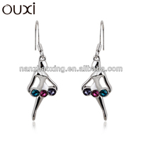 OUXI 2015 new model earrings made with Swarovski Elements 20784