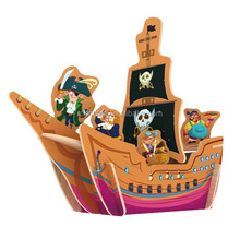 Wooden craft pirate ship