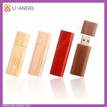 Simple green color wooden usb flash drive , cheapest usb flash drives bulk , 4gb bulk usb flash drives