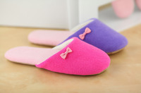 GCE260 soft towel with mesh with bow women wholesale slippers